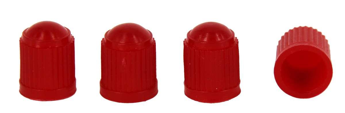 МастерПроф Набор пластиковых колпачков для ниппеля колеса, цвет: красный