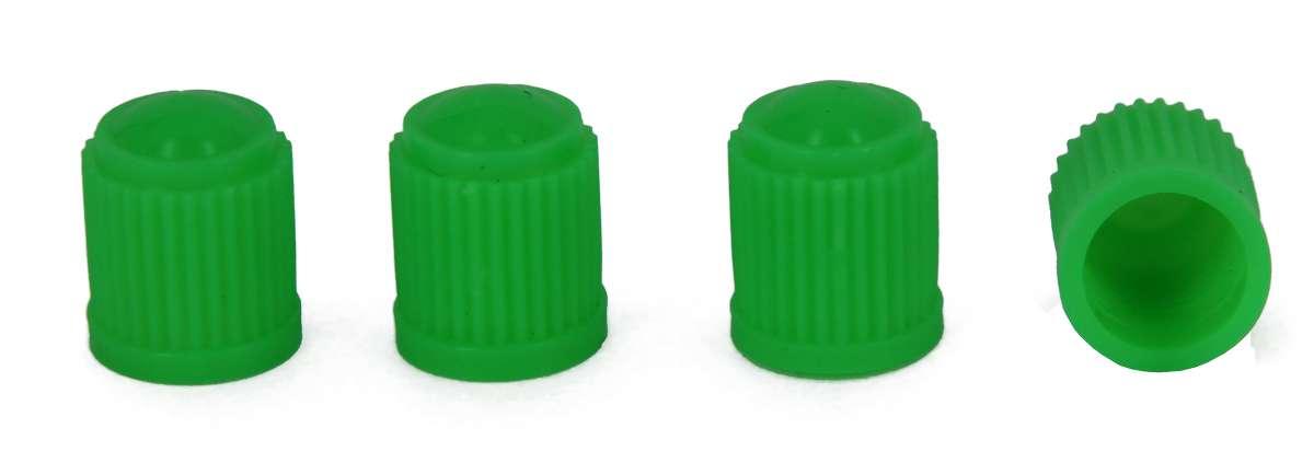 МастерПроф Набор пластиковых колпачков для ниппеля колеса, цвет: зеленый