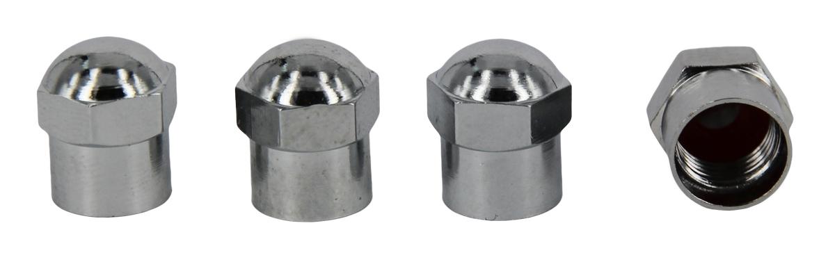 Набор хромированных металлических колпачков для ниппеля колеса МастерПроф