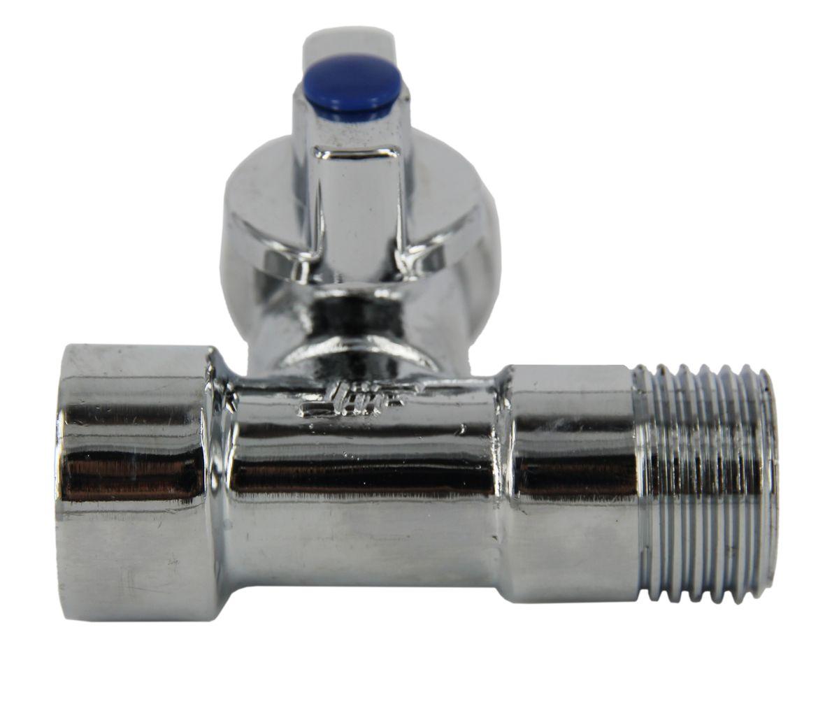 Кран шаровый трехпроходной для подключения стационарных приборов 1/2х3/4х1/2, резьба внутренняя/наружная/наружная, ручка флажок, хромированный JifИС.080349Кран шаровый трехпроходной для подключения стационарных приборов 1/2х3/4х1/2, резьба внутренняя/наружная/наружная, ручка флажок, хромированный предназначен для перекрытия потока воды в системе водоснабжения между потребителями, (стиральные посудомоечные машины, фильтры для воды). Привлекательный внешний вид и, входящий в комплект поставки, хромированный отражатель, позволяют произвести открытую установку крана . Рабочее давление 10 бар. Температура до +90°С. Диаметр 1: 1/2 (15 мм), внутренняя резьба. Диаметр 2: 3/4 (20 мм), наружная резьба. Диаметр 3: 1/2 (15 мм), внутренняя резьба.