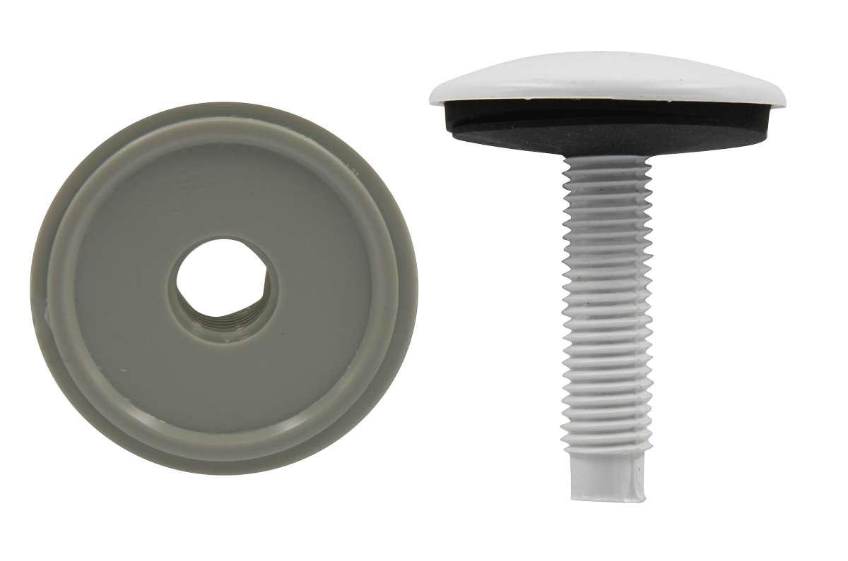 Заглушка на умывальник Masterprof, цвет: белый, диаметр 50 ммИС.130497Заглушка на умывальник Masterprof предназначена для установки вместо смесителя на раковину или умывальник. Закрывает отверстие, если вы не устанавливаете смеситель на раковину. Диаметр: 50 мм.