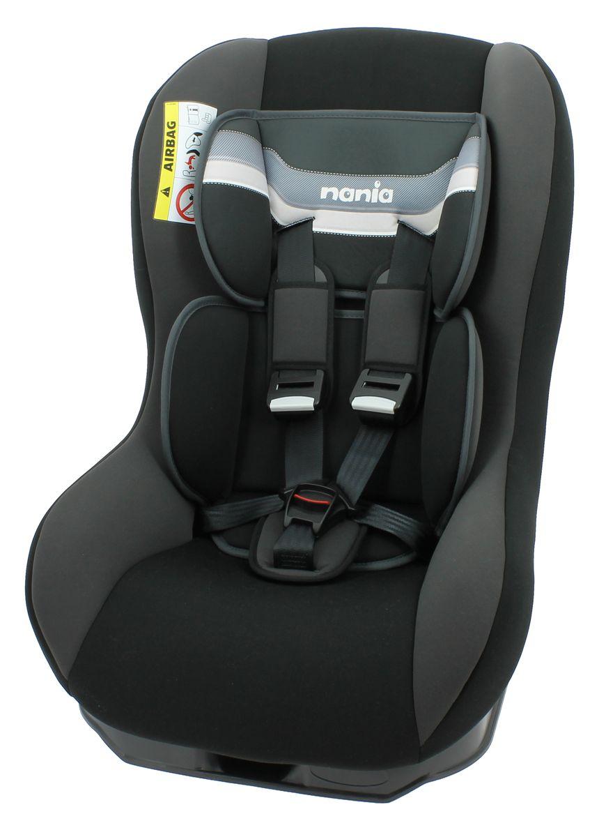 Nania Автокресло Driver First Horizon Black до 18 кг46603Автокресло Nania Driver First группы 0-1 предназначено для детей весом до 18 кг. Автокресло имеет специальный мягкий вкладыш и подголовник. 3 положения спинки. 5-ти точечный ремень безопасности с удобной системой натяжения. Новая система крепления автокресла облегчает его установку в автомобиль. Прочный каркас анатомической формы из полипропилена. Поглощающая силу удара прослойка из полистирола. Пятиточечные ремни безопасности с 3-мя уровнями регулировки по высоте. Мягкий вкладыш под спину, который позволяет перевозить совсем маленьких детей. 2 дополнительные подушки. Направление установки: против движения - до 9 кг, потом по ходу движения. Технические характеристики: Внешние размеры (Д х Ш х В): 54 x 45 x 61 см. Внутренние размеры (Д х Ш): 31 x 31 см. Высота спинки: 55 см. Вес: 5,7 кг. Ткань: 100% полиэстер.