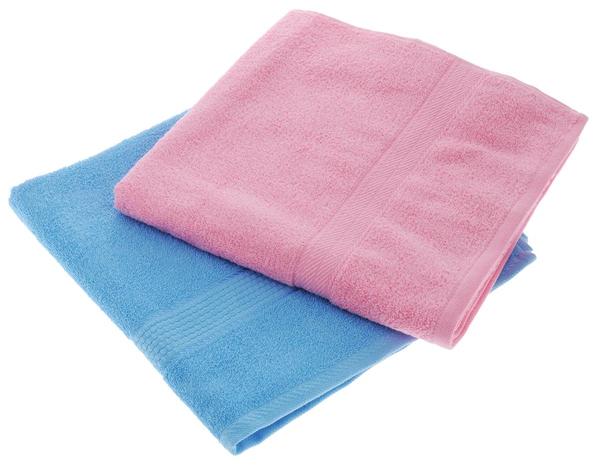 Набор махровых полотенец Aisha Home Textile, цвет: голубой, розовый, 70 х 140 см, 2 штУзТ-ПМ-104-06-04Набор Aisha Home Textile состоит из двух махровых полотенец, выполненных из натурального 100% хлопка. Изделия отлично впитывают влагу, быстро сохнут, сохраняют яркость цвета и не теряют формы даже после многократных стирок. Полотенца Aisha Home Textile очень практичны и неприхотливы в уходе. Комплектация: 2 шт.