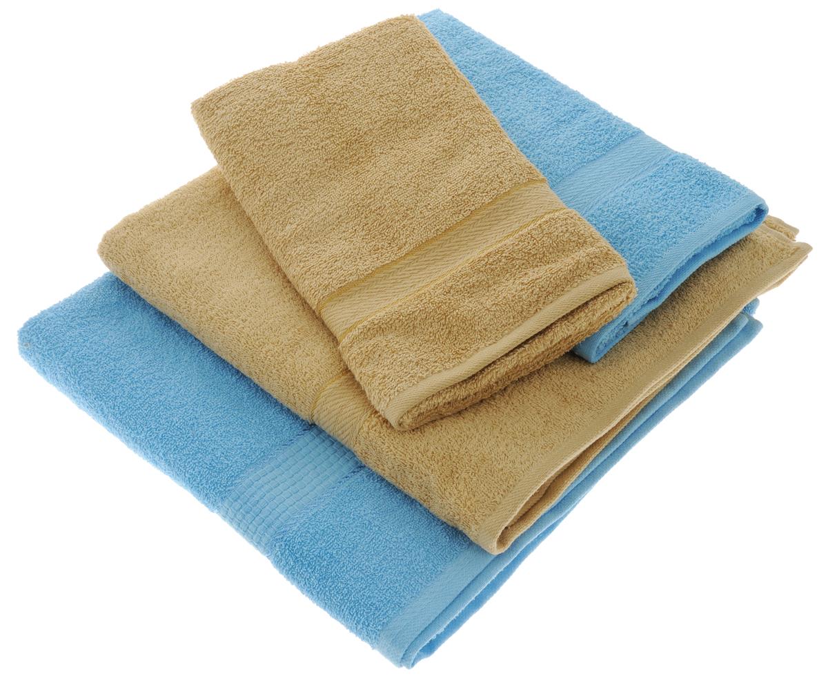 Набор махровых полотенец Aisha Home Textile, цвет: светло-коричневый, голубой, 4 штУзТ-ПМ-103-23-06Набор Aisha Home Textile состоит из двух полотенец 50 х 90 см и двух банных 70 х 140 см. Полотенца выполнены из натурального 100% хлопка и махровой ткани. Изделия отлично впитывают влагу, быстро сохнут, сохраняют яркость цвета и не теряют формы даже после многократных стирок. Полотенца Aisha Home Textile очень практичны и неприхотливы в уходе. Комплектация: 4 шт.