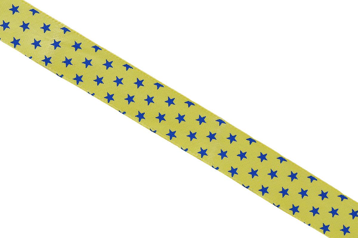 Лента атласная Dekor Line Звездочки, цвет: желтый, синий, 1,5 х 300 см7710558_желтыйАтласная лента Dekor Line Звездочки выполнена из высококачественного полиэстера. Область применения атласной ленты весьма широка. Лента предназначена для оформления цветочных букетов, подарочных коробок, пакетов. Кроме того, она с успехом применяется для художественного оформления витрин, праздничного оформления помещений, изготовления искусственных цветов. Ее также можно использовать для творчества в различных техниках, таких как скрапбукинг, оформление аппликаций, для украшения фотоальбомов, подарков, конвертов, фоторамок, открыток и прочего. Ширина ленты: 1,5 см. Длина ленты: 3 м.