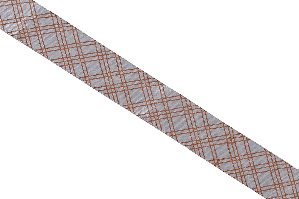 Лента атласная Dekor Line Пересечение, цвет: светло-серый, коричневый, 1,5 х 300 см7710553_белыйАтласная лента Dekor Line Пересечение выполнена из высококачественного полиэстера. Область применения атласной ленты весьма широка. Лента предназначена для оформления цветочных букетов, подарочных коробок, пакетов. Кроме того, она с успехом применяется для художественного оформления витрин, праздничного оформления помещений, изготовления искусственных цветов. Ее также можно использовать для творчества в различных техниках, таких как скрапбукинг, оформление аппликаций, для украшения фотоальбомов, подарков, конвертов, фоторамок, открыток и прочего. Ширина ленты: 1,5 см. Длина ленты: 3 м.