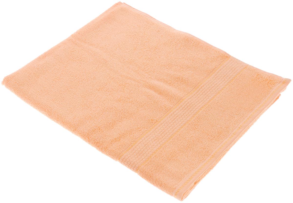 Полотенце махровое Aisha Home Textile Соты, цвет: персик, 70 х 140 см. 114-0531-401Махровое полотенце Aisha Home Textile Соты выполнено из натуральной махровой ткани (100% хлопок). Изделие отлично впитывает влагу, быстро сохнет, сохраняет яркость цвета и не теряет форму даже после многократных стирок. Полотенце очень практично и неприхотливо в уходе. Оно создаст прекрасное настроение и украсит интерьер в ванной комнате.Рекомендации по уходу:- режим стирки при 60°C,- гладить при температуре 150°C, - химчистка не допускается,- отбеливание запрещено.