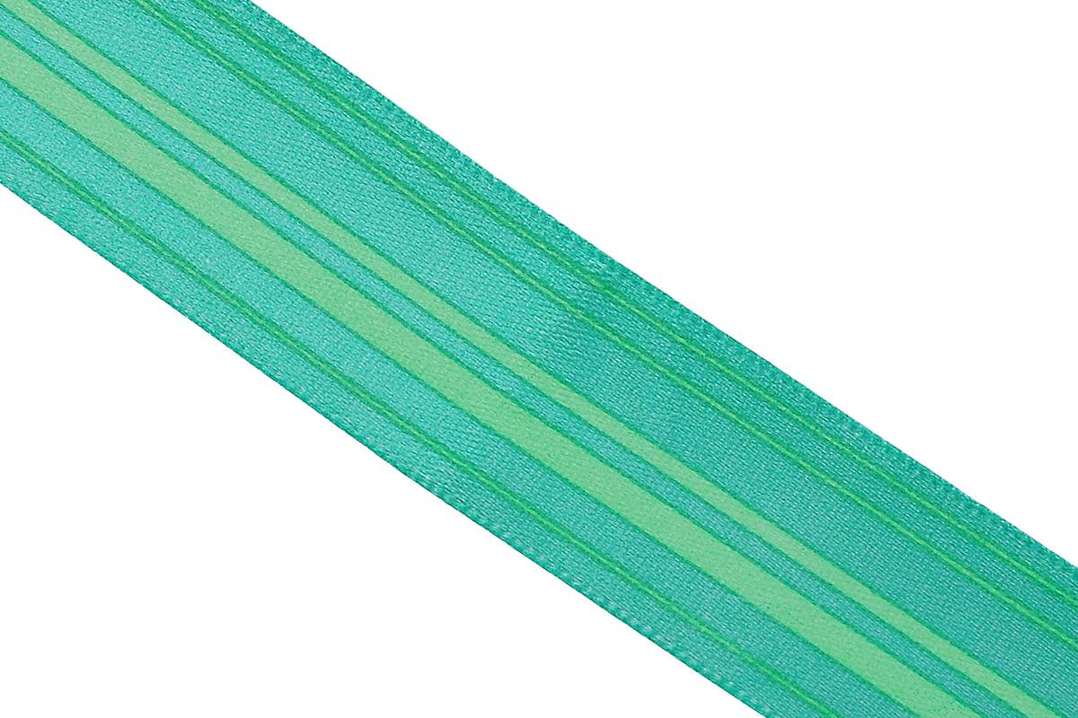 Лента атласная Dekor Line Горизонталь, цвет: зеленый, светло-зеленый, 2,5 х 300 см7710563_зеленыйАтласная лента Dekor Line Горизонталь выполнена из высококачественного полиэстера. Область применения атласной ленты весьма широка. Лента предназначена для оформления цветочных букетов, подарочных коробок, пакетов. Кроме того, она с успехом применяется для художественного оформления витрин, праздничного оформления помещений, изготовления искусственных цветов. Ее также можно использовать для творчества в различных техниках, таких как скрапбукинг, оформление аппликаций, для украшения фотоальбомов, подарков, конвертов, фоторамок, открыток и прочего. Ширина ленты: 2,5 см. Длина ленты: 3 м.