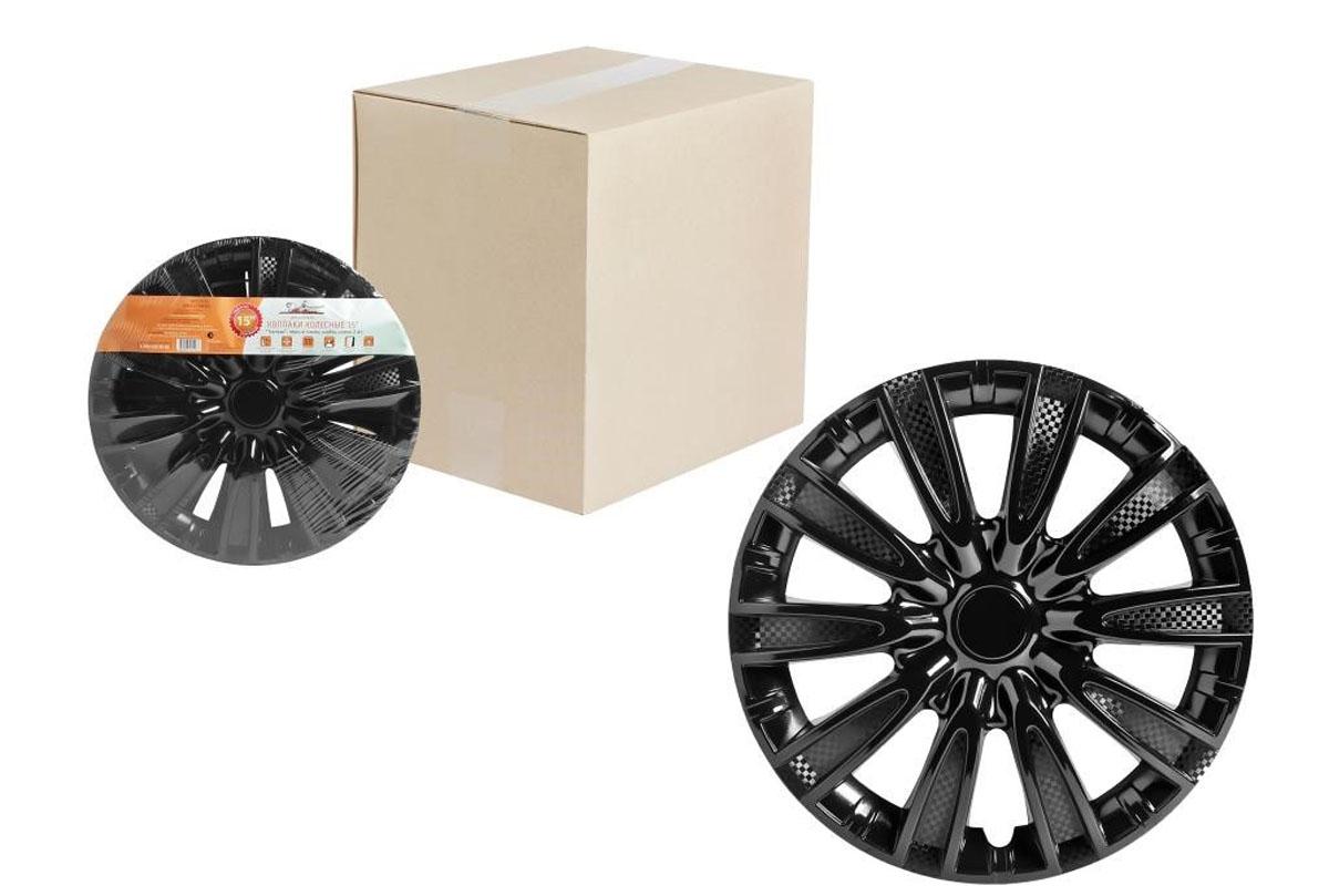Колпаки колесные Airline Торнадо, цвет: черный глянец, 14, 2 шт. AWCC-14-091004900000360Колпаки колесные Airline Торнадо изготовлены из ударопрочного полистирола, имеют модную текстуру, имитирующую карбон, покрашены в популярные цвета, а также стойкие к повышенным и пониженным температурам. Колпаки снабжены надежными универсальными креплениями, позволяющими обеспечивать равномерное распределение давления на все защелки. Колпаки Airline защитят тормозную систему от грязи, соли и реагентов, скроют изъяны штампованных дисков, тем самым украсив ваш автомобиль.