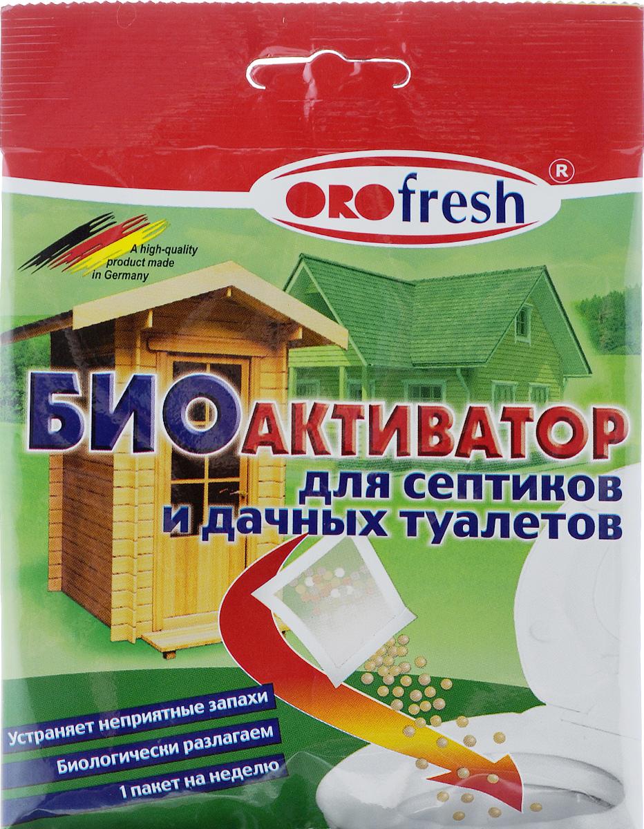 Биоактиватор для септиков и дачных туалетов ORO-Fresh, 25 г07017/25Биоактиватор ORO-Fresh - это смесь специальных микроорганизмов (бактерий) для естественной биологической очистки сливных очистительных установок. Он поддерживает процесс биологического разложения, уменьшает выделения неприятного запаха, продлевает период между удалениями разложившихся осадков, запускает в работу новую очистительную станцию. Состав: биоактивные микроорганизмы (бактерии), носитель. Товар сертифицирован.