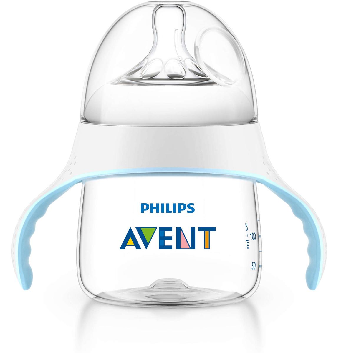 Philips Avent Тренировочный набор для перехода от бутылочки к чашке, 125 мл SCF251/00  недорого