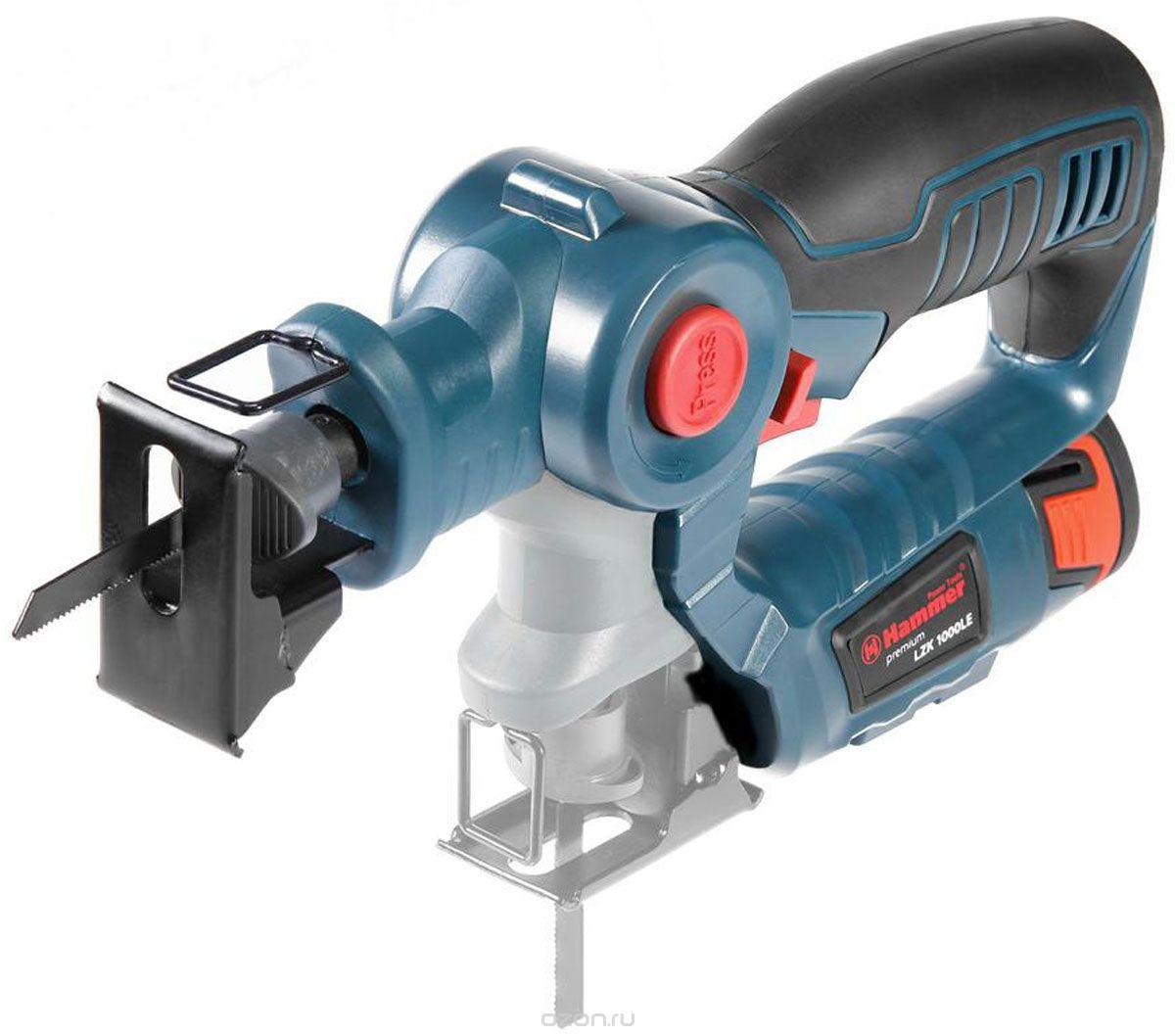 Аккумуляторный лобзик Hammer LZK1000LE Premium + АКБ AB120LE + ЗУ Hammer 251605