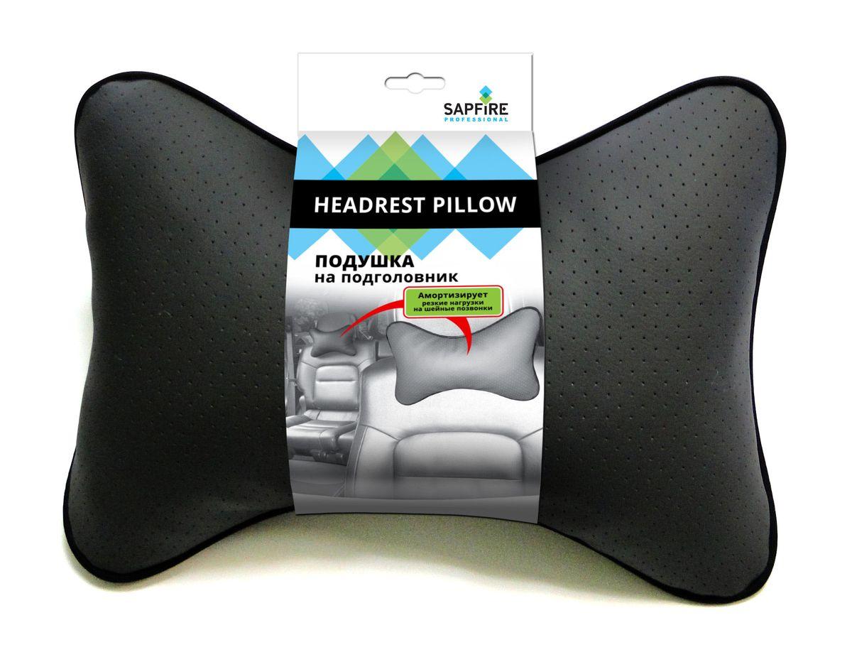 Подушка автомобильная на подголовник Sapfire, цвет: серый0001-SCIАвтомобильные подушки под шею снимают нагрузку с шеи и позвоночника, позволяя зафиксировать голову в удобном для вас положении. Если ваши пассажиры захотят вздремнуть, то подушки под голову окажутся очень кстати и помогут расслабиться. Также они будут отличным подарком для автомобилиста!