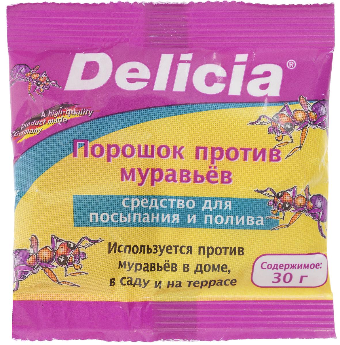 Порошок против муравьев Delicia, 30 г1558-922Порошок Delicia используется против муравьев в доме, саду и на террасе. Средство может применяться как для посыпания, так и для полива. Муравьи переносят порошок в свое гнездо, где он поедается муравьиной королевой и подрастающим потомством. Коме того, порошок обладает контактным действием. Действующее вещество: 10 г/кг хлорпирифос. Противоядие: атропин + токсогонин (при врачебном контроле). Товар сертифицирован.