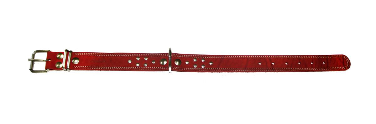 Ошейник Аркон Стандарт, цвет: красный, ширина 3,5 см, длина 62 см. о35ко35ккрОшейник Аркон Стандарт изготовлен из натуральной кожи, устойчивой к влажности и перепадам температур. Клеевой слой, сверхпрочные нити, крепкие металлические элементы делают ошейник надежным и долговечным. Изделие отличается высоким качеством, удобством и универсальностью. Размер ошейника регулируется при помощи пряжки, зафиксированной на одном из 6 отверстий. Минимальный обхват шеи: 41 см. Максимальный обхват шеи: 56 см. Ширина: 3,5 см.