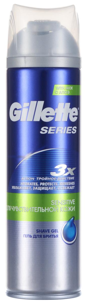 Гель для бритья Gillette Series, для чувствительной кожи, 200 мл1101Гель для бритья Gillette Series почти без запаха, подходит для чувствительной кожи. Формула Triple Protection с тремя смазывающими компонентами помогает защищать кожу от порезов, покраснений и ощущения стянутости. Характеристики: Объем: 200 мл. Производитель: Великобритания. Артикул: 98755827.Товар сертифицирован.
