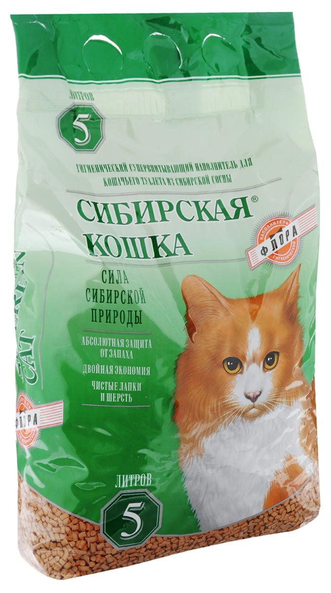 Наполнитель для кошачьих туалетов Сибирская кошка Флора, древесный, 5 л381_дизайн 2Наполнитель для кошачьих туалетов Сибирская кошка Флора - экологически чистый супервпитывающий наполнитель. Производится из древесины хвойных пород без каких-либо добавок. Впитываемость составляет 260-320%, что в 3 раза превосходит показатели обычных наполнителей. Специально подобранный размер гранул позволяет более чем в 2 раза увеличить скорость впитывания влаги и запахов, а также в 1,5 раза уменьшить расход наполнителя по сравнению с другими древесными наполнителями. Наполнитель обладает естественным природным запахом хвои и не содержит искусственных ароматизаторов. Состав: гранулы древесные деревьев хвойных пород. Длина гранулы: 6 мм.