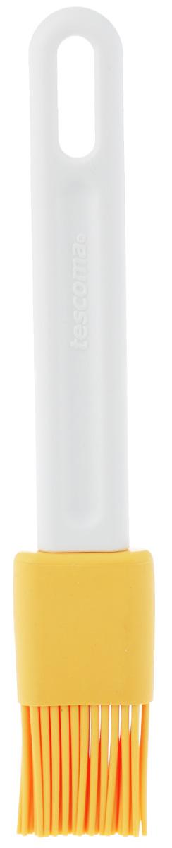 Кисть кондитерская Tescoma Delicia, цвет: желтый, белый, длина 18,5 см630290_желтый, белыйКондитерская кисть Tescoma Delicia станет вашим незаменимым помощником на кухне. Рабочая часть кисточки выполнена из силикона, ручка изготовлена из пластика. Силикон абсолютно безвреден для здоровья, не впитывает запахи, не оставляет пятен, легко моется. Изделие оснащено петелькой для подвешивания. Кисть Tescoma Delicia - практичный и необходимый подарок любой хозяйке! Длина кисти: 18,5 см. Длина ворсинок: 3 х 3 см.