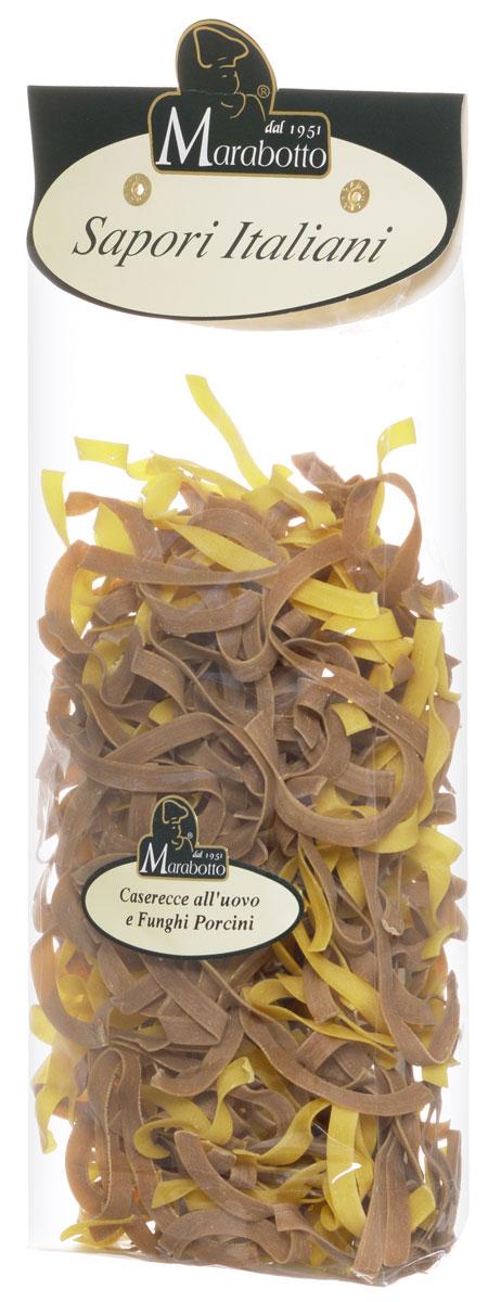 Marabotto Паста домашняя с яйцом и белыми грибами макароны, 250 г8000253000262В состав макарон Marabotto. Sapori Italiani включены популярные в Италии натуральные приправы. В этом заключена их уникальность. Характерные особенности приправ воплощены в удивительных цветах, форме, аромате и вкусе макарон. Уже в процессе варки вы можете почувствовать ароматы белых грибов, которые используются при их приготовлении. По вкусу, аромату и внешнему виду макароны Marabotto. Sapori Italiani невозможно перепутать ни с одним другим продуктом!