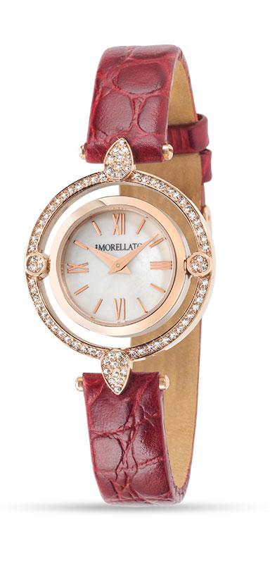 Часы наручные женские Morellato Venere, цвет: бордовый. R0151121504BP-001 BKстразы из стекла, ПВД покрытие золотом