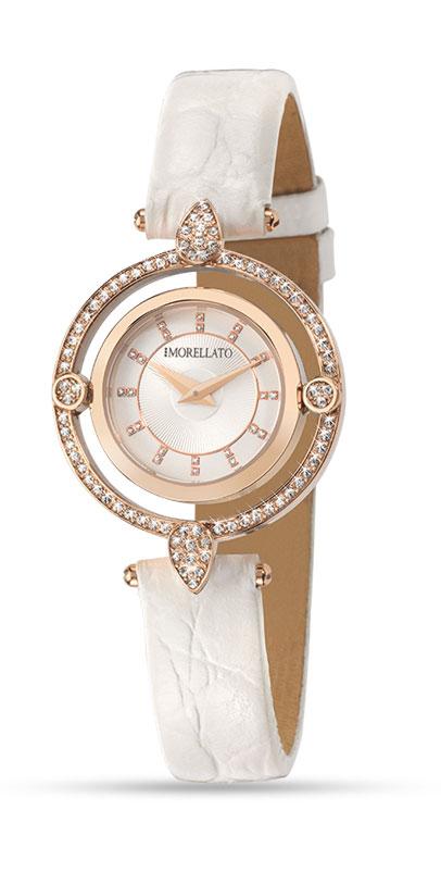 Часы наручные женские Morellato Venere, цвет: белый. R0151121505INT-06501стразы из стекла, ПВД покрытие золотом