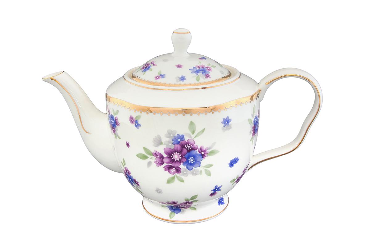 Чайник заварочный Elan Gallery Сиреневый туман, 1,4 лVT-1520(SR)Заварочный чайник Elan Gallery Сиреневый туман изготовлен из высококачественной керамики с гладким глазурованным покрытием. Изделие декорировано красочным цветочным изображением и золотистой эмалью. Чайник снабжен удобной ручкой и широким носиком. В основании носика расположены фильтрующие отверстия от попадания чаинок в чашку. Изысканный заварочный чайник украсит сервировку стола к чаепитию. Благодаря красивому утонченному дизайну и качеству исполнения он станет хорошим подарком друзьям и близким.Не рекомендуется применять абразивные моющие средства. Не использовать в микроволновой печи. Диаметр чайника (по верхнему краю): 10 см. Высота чайника (без учета крышки): 14,5 см.