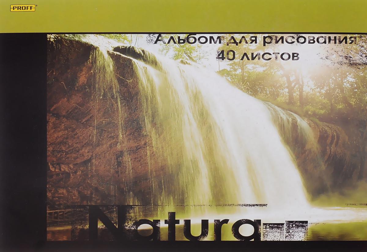 Proff Альбом для рисования Natura 40 листовАРМКСКЛ05 100/40_naturaАльбом для рисования Proff Natura порадует маленького художника и вдохновит его на творчество. Альбом изготовлен из белой офсетной бумаги с обложкой из картона, оформленной изображением водопада. В альбоме 40 листов. Высокое качество бумаги позволяет рисовать в альбоме карандашами, фломастерами, акварельными и гуашевыми красками.