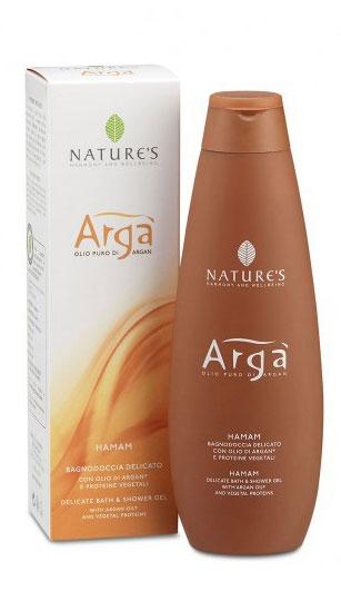 Гель для душа Natures Arga, деликатный, 200 мл34650_голубой, розовыйДеликатный гель для душа Natures Arga эффективно очищает и освежает кожу, образуя обильную пену. Создан на основе поверхностно-активных веществ растительного происхождения, поддерживает гидролипидный баланс кожи, надолго сохраняя необходимый уровень влажности. Оставляет кожу мягкой и бархатистой, создает ощущение обновленности и уверенности в завтрашнем дне. При контакте с горячей водой, раскрывается ароматом цитрусовых, придавая коже свежесть. Подходит для самой чувствительной кожи.Характеристики:Объем: 200 мл.Производитель: Италия.Артикул:60150701.Товар сертифицирован.