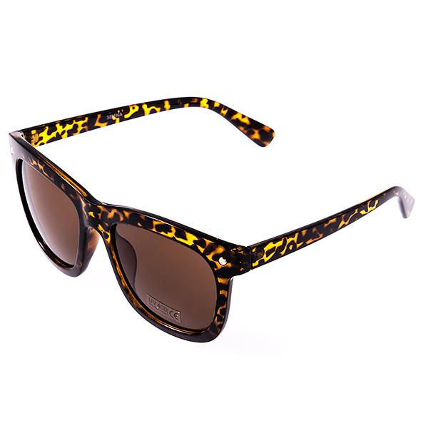 Солнцезащитные очки женские Selena, цвет: коричневый. 80031101CF632YСолнцезащитные женские очки Selena выполнены из высококачественного пластика с элементами из металла, оправа оформлена принтом леопард.Линзы данных очков с высокоэффективным фильтром UV-400 Protection обеспечивают полную защиту от ультрафиолетовых лучей. Используемый пластик не искажает изображение, не подвержен нагреванию и вредному воздействию солнечных лучей.Такие очки защитят глаза от ультрафиолетовых лучей, подчеркнут вашу индивидуальность и сделают ваш образ завершенным.