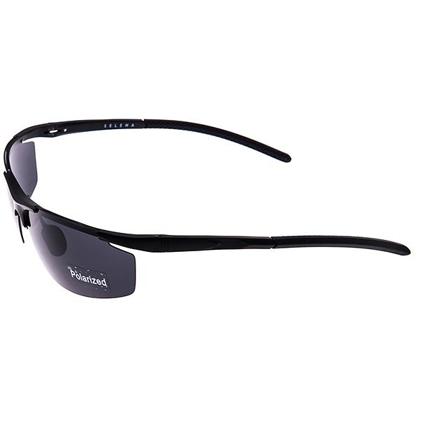 Солнцезащитные очки Selena, цвет: черный. 80031851INT-06501Универсальные солнцезащитные очки Selena выполнены из металла с элементами из высококачественного пластика.Линзы данных очков с высокоэффективным поляризационным покрытием блокируют слепящий эффект и обеспечивают полную защиту от ультрафиолетовых лучей. Используемый пластик не искажает изображение, не подвержен нагреванию и вредному воздействию солнечных лучей. Дужки дополнены покрытием из пластика, что обеспечит максимальный комфорт при использовании.Такие очки защитят глаза от ультрафиолетовых лучей, подчеркнут вашу индивидуальность и сделают ваш образ завершенным.