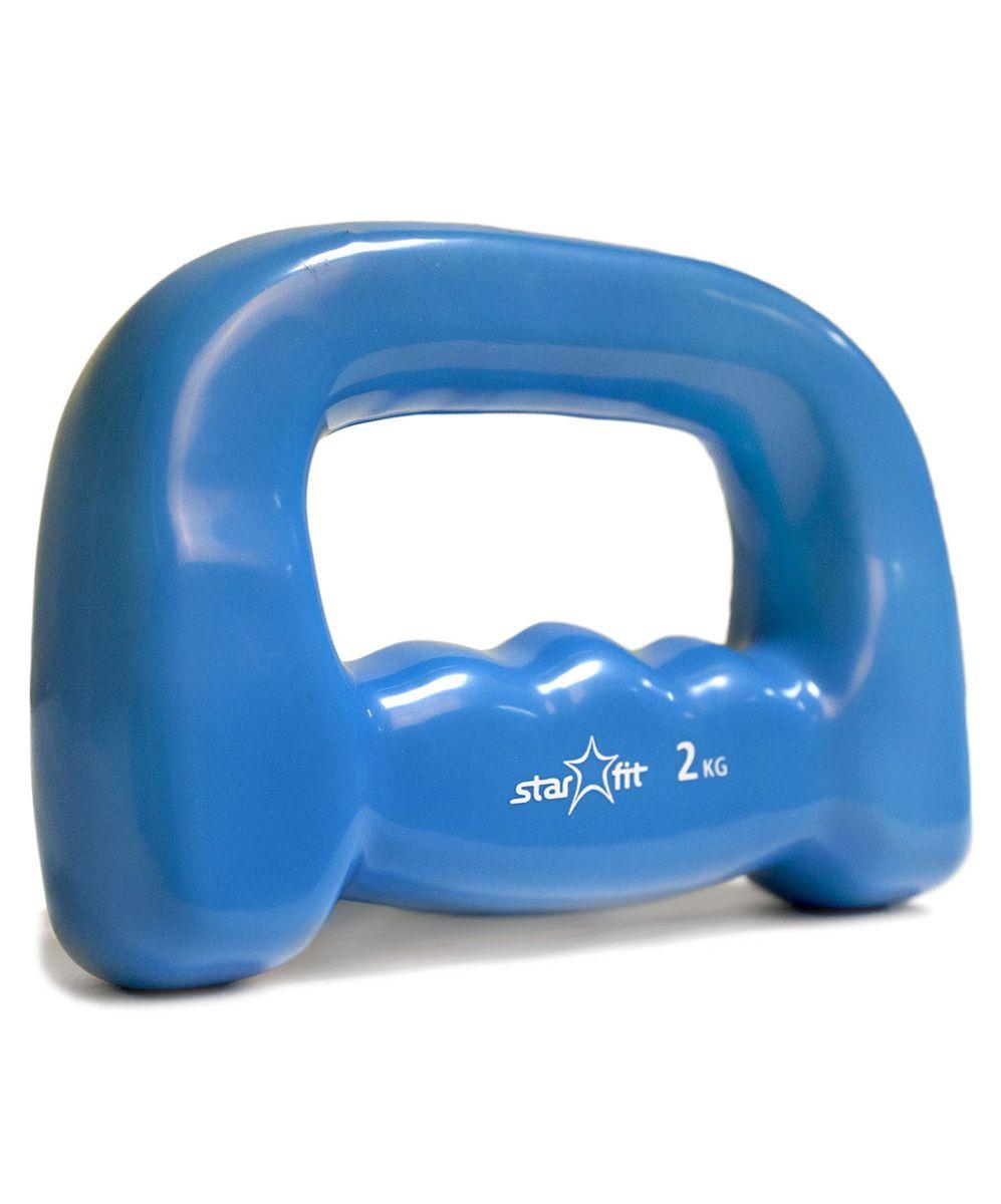 Гантель для бега Star Fit DB-103, виниловая, цвет: синий, 2 кгУТ-00007083Гантель для бега DB-103, изготовленная из стали и винила, имеет анатомическую форму. Ее очень удобно держать в руке во время пробежки. Закрытая конструкция гантели позволяет иногда ослаблять хват. Гантель приятная на ощупь, не холодная для ладоней. Изделие имеет необычный яркий дизайн. Используется в фитнесе, бодибилдинге, функциональном тренинге, лечебной физкультуре, беге и других спортивных дисциплинах. Вес: 2 кг.