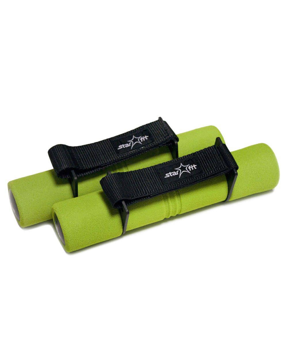 """Гантель неопреновая """"Starfit"""", цвет: зеленый, черный, 1,5 кг, 2 шт УТ-00007092"""