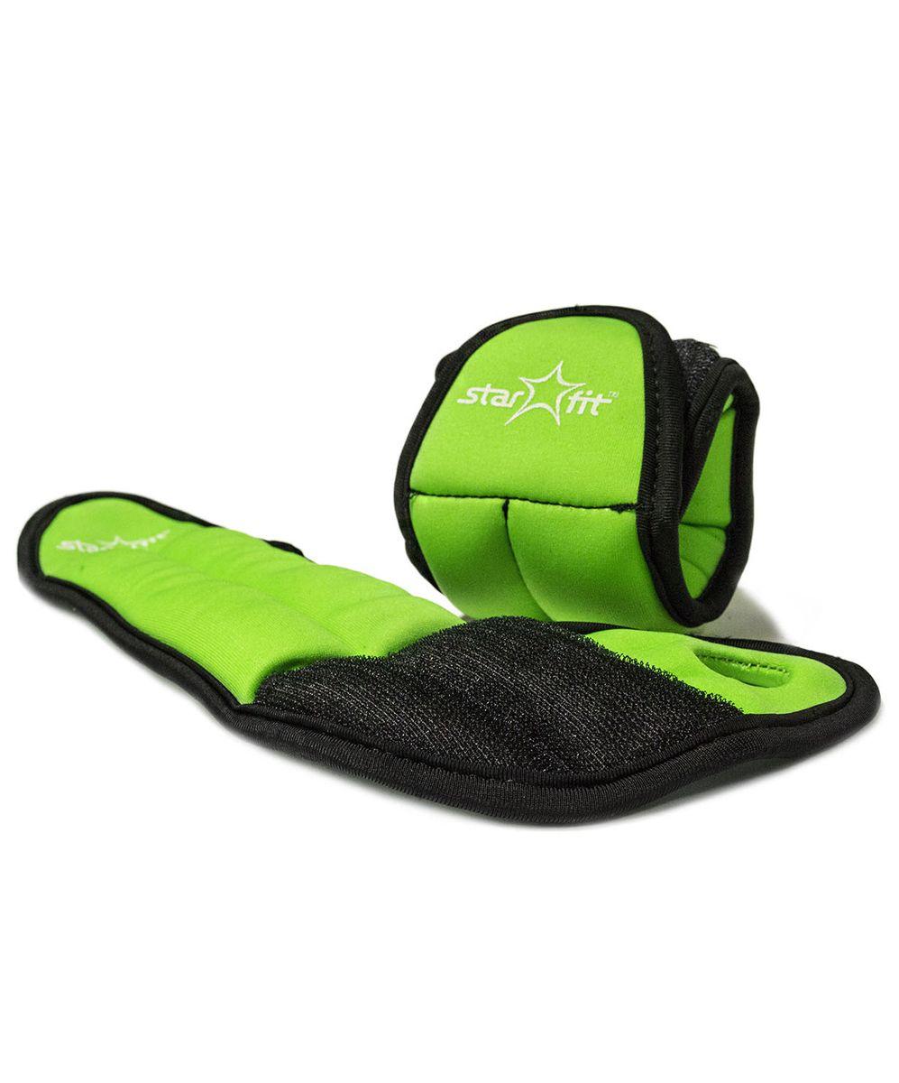 Утяжелители Starfit, 1 кг, цвет: зеленый, черный. WT-201УТ-00007281Утяжелители специально предназначенные для занятий фитнесом и гимнастикой