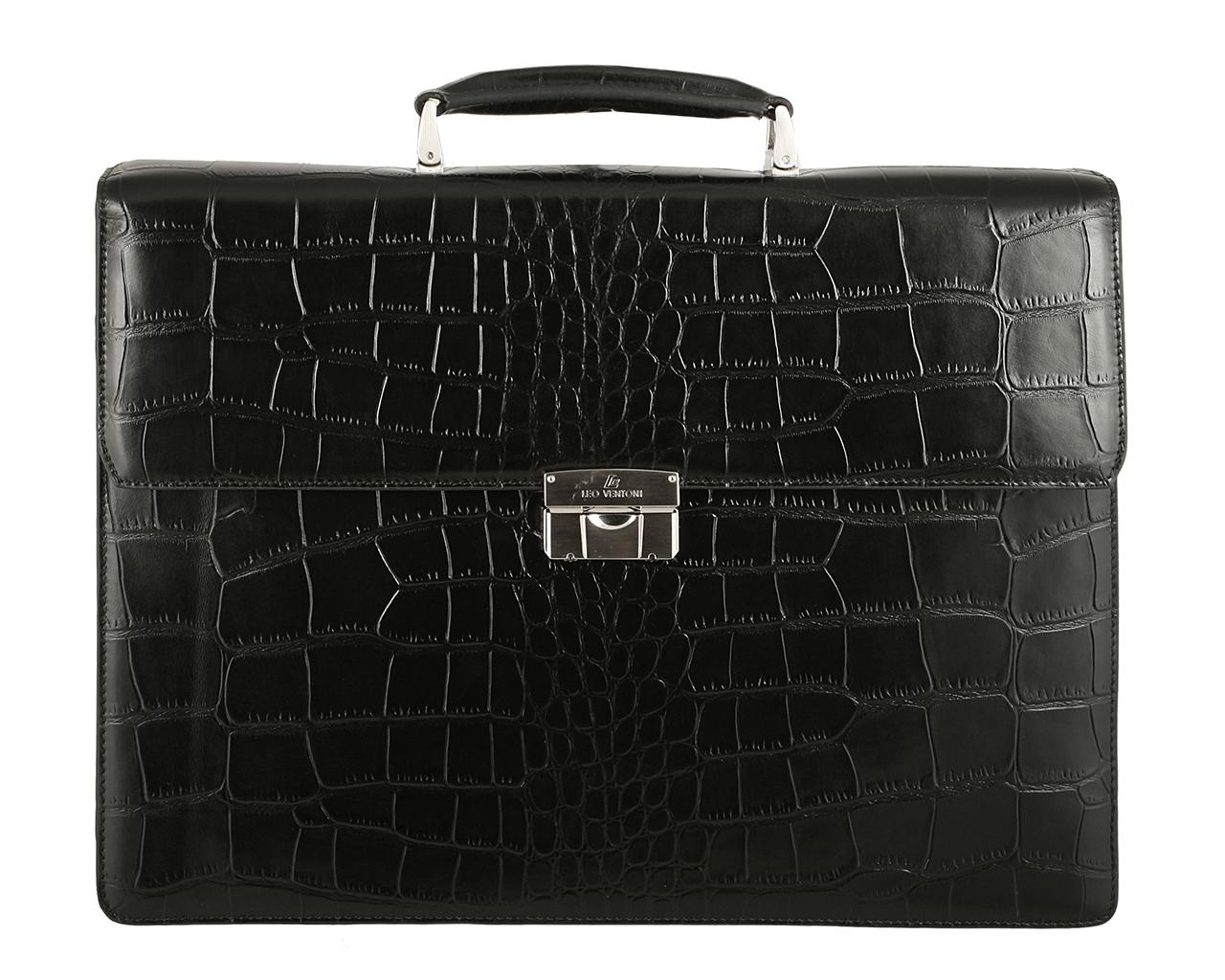 Портфель мужской Leo Ventoni, цвет: черный. 03002131-01
