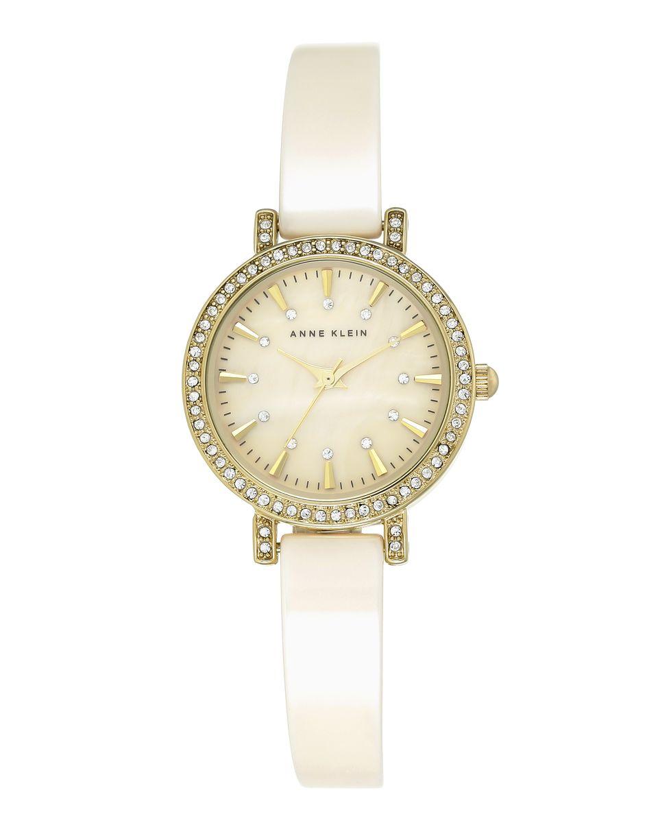Наручные часы женские Anne Klein, цвет: золотистый, бежевый. 2180IVGBBP-001 BKОригинальные и качественные часы Anne Klein