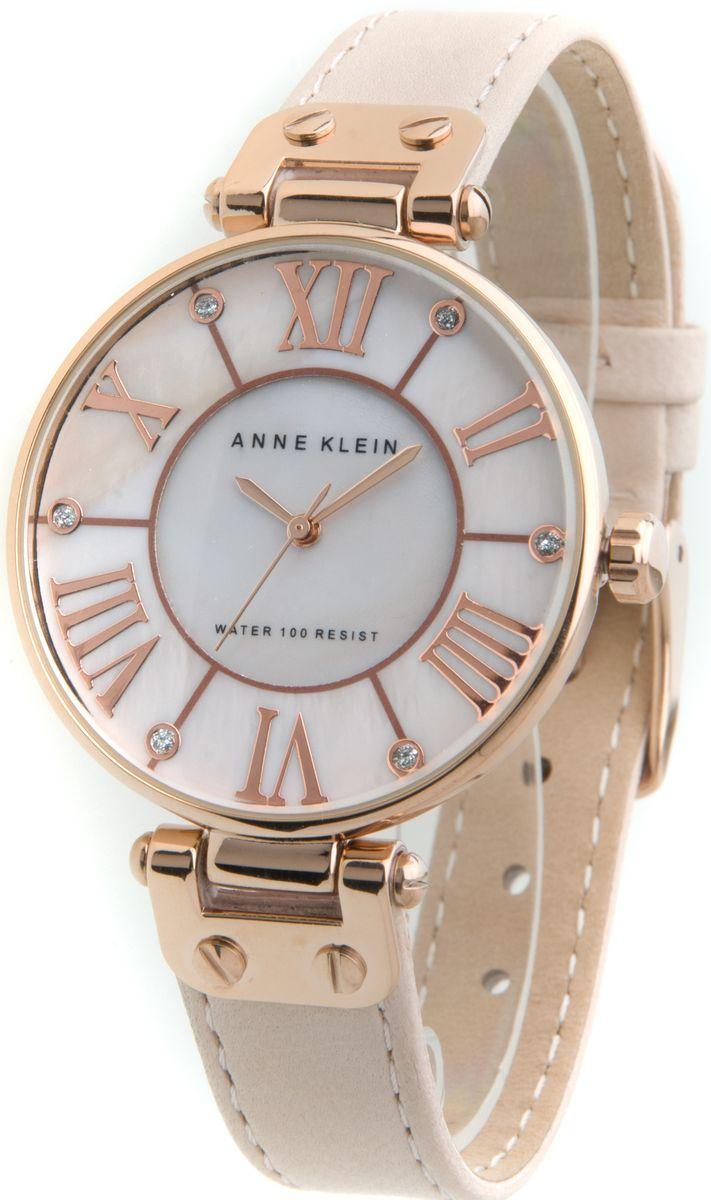 Наручные часы женские Anne Klein, цвет: золотистый, бежевый. 9918RGLPBP-001 BKОригинальные и качественные часы Anne Klein