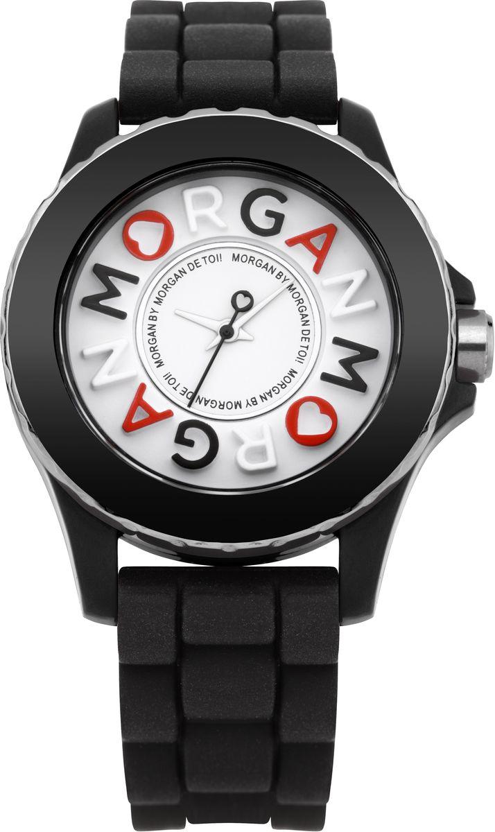 Наручные часы женские Morgan, цвет: черный. M1144BM1144BТрехстрелочный механизм Miyota; Сталь; IP-покрытие черного цвета; Корпус пластик; Минеральное стекло; Циферблат белого цвета; Браслет пластик; Водозащита 3 ATM