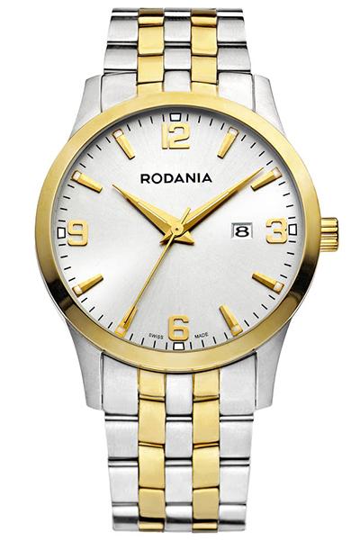 Наручные часы мужские Rodania, цвет: золотистый, серый. 2506581BM8434-58AEОригинальные и качественные часы Rodania