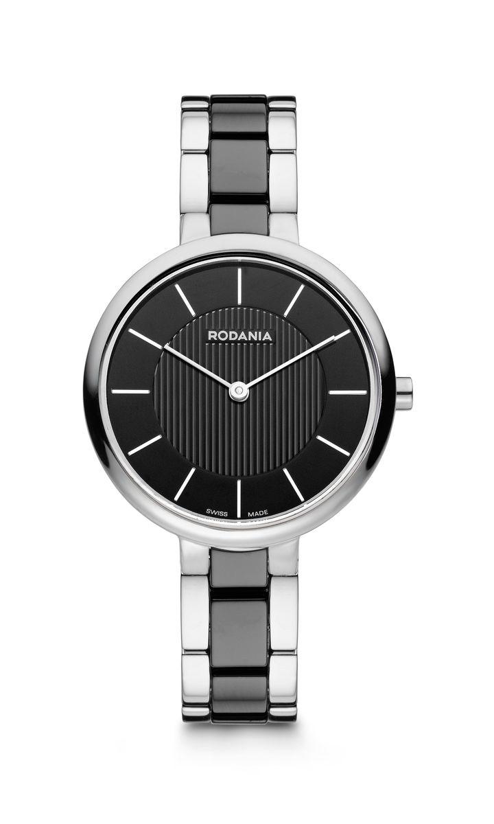 Наручные часы женские Rodania, цвет: серый металлик, черный. 25115462511546Оригинальные и качественные часы Rodania