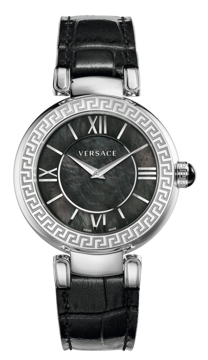 Наручные часы женские Versace, цвет: серый металлик, черный. VNC010014