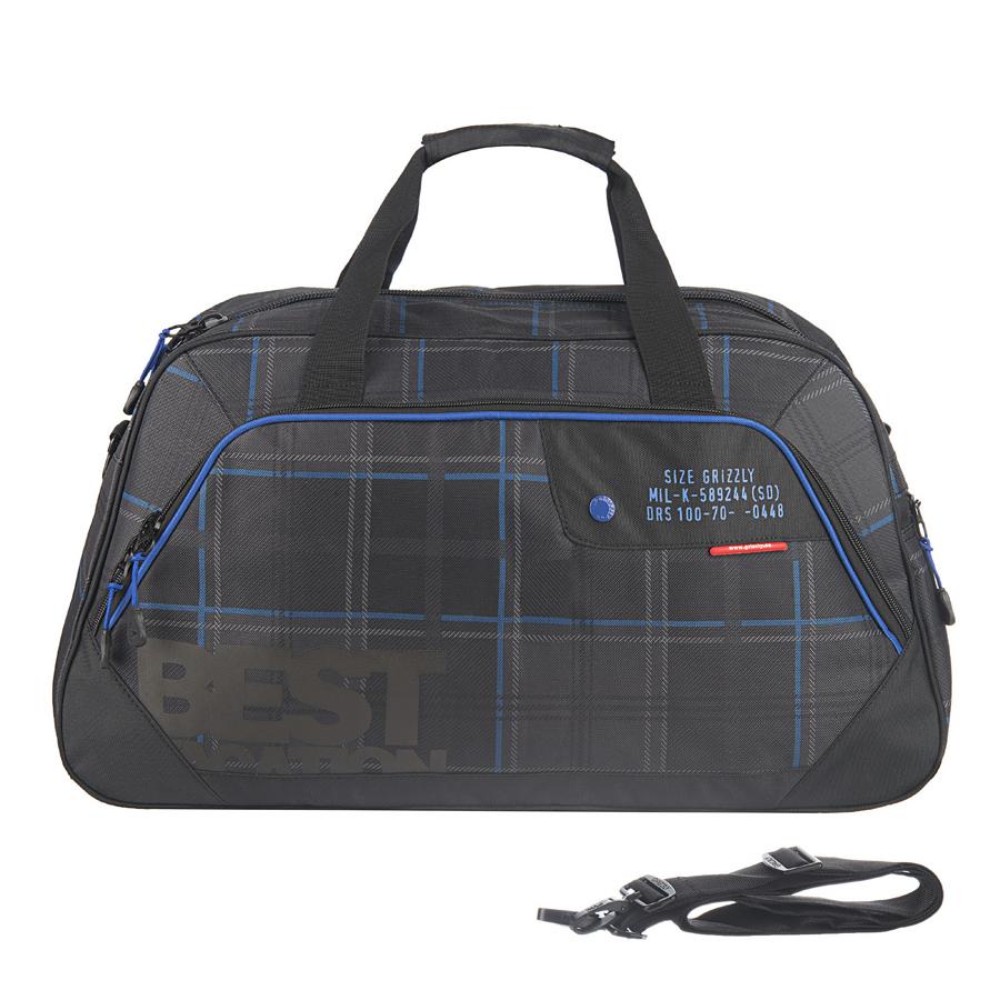 Сумка спортивная Grizzly, цвет: черный, 38 л. TU-508-4/3Костюм Охотник-Штурм: куртка, брюкиСумка спортивная Grizzly имеет одно отделение, объемный передний карман на молнии, внутренний карман на молнии, укрепленное дно с защитными пластиковыми ножками, нерегулируемые ручки, регулируемый съемный плечевой ремень.
