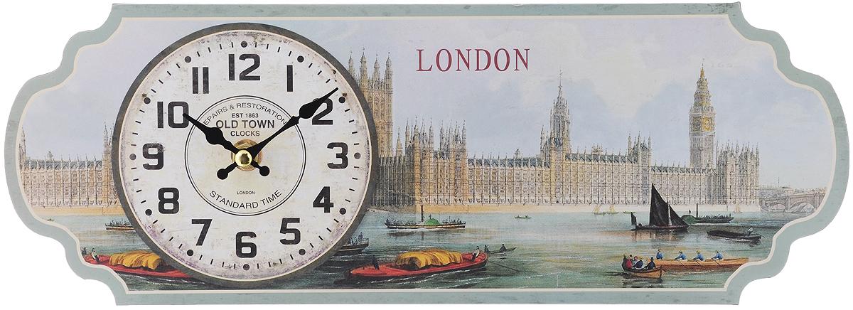 Часы настольные Феникс-Презент Темза, 36 х 13 см40720Настольные часы Феникс-Презент Темза своим эксклюзивным дизайном подчеркнут оригинальность интерьера вашего дома. Часы выполнены из МДФ в виде таблички с изображением набережной Темзы. МДФ (мелкодисперсные фракции) представляет собой плиту из запрессованной вакуумным способом деревянной пыли и является наиболее экологически чистым материалом среди себе подобных. Часы имеют две стрелки - часовую и минутную. Настенные часы Феникс-Презент Темза подходят для кухни, гостиной, прихожей или дачи, а также могут стать отличным подарком для друзей и близких. ВНИМАНИЕ!!! Часы работают от сменной батареи типа АА 1,5V (в комплект не входит).