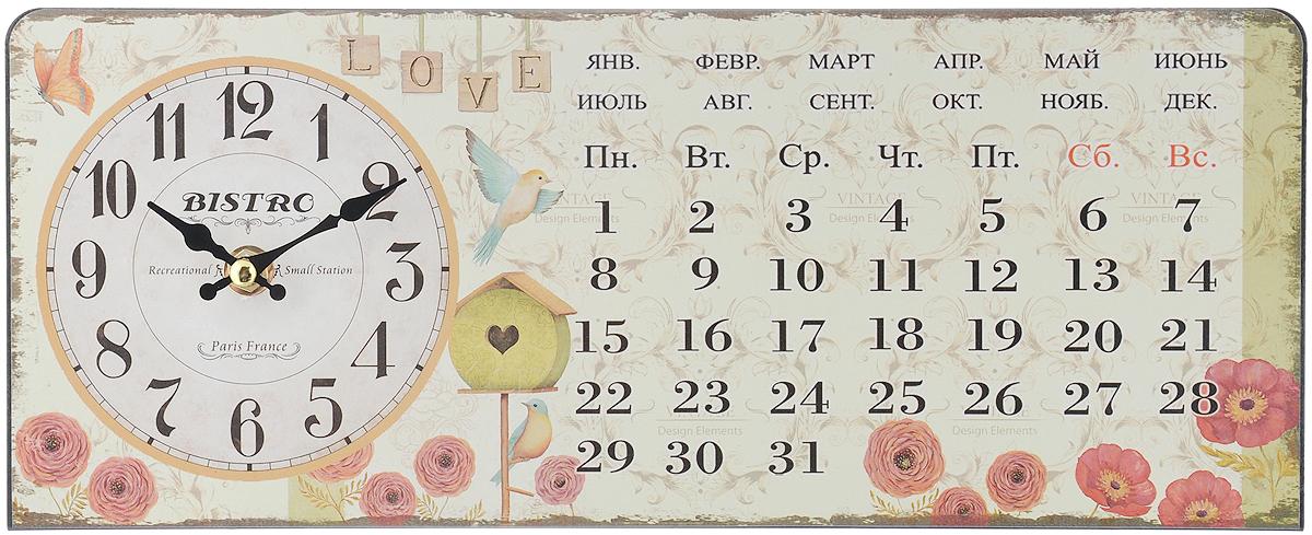 Часы настольные Феникс-Презент Красные цветочки, 35 х 14 см40746Настольные часы прямоугольной формы Феникс-Презент Красные цветочки своим эксклюзивным дизайном подчеркнут оригинальность интерьера вашего дома. Часы выполнены из металла. Они оформлены изображением календаря, цветов и птиц. Часы имеют две стрелки - часовую и минутную. Настольные часы Феникс-Презент Красные цветочки подходят для кухни, гостиной, прихожей или дачи, а также могут стать отличным подарком для друзей и близких. ВНИМАНИЕ!!! Часы работают от сменной батареи типа АА 1,5V (в комплект не входит).
