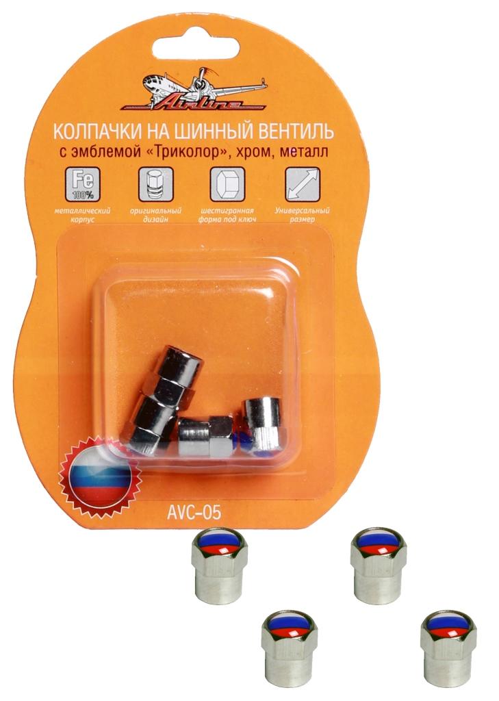 Колпачки на шинный вентиль Airline, с эмблемой Триколор, 4 штPANTERA SPX-2RSКолпачки на шинный вентиль Airline защищают от попадания грязи и воды на воздушный клапан, а также от мелкого травления воздуха. Данная модель изготовлена из металла и имеет резиновую вставку на основании. Изделие украшено эмблемой российского триколора. Подходят для автомобилей, мотоциклов, велосипедов.