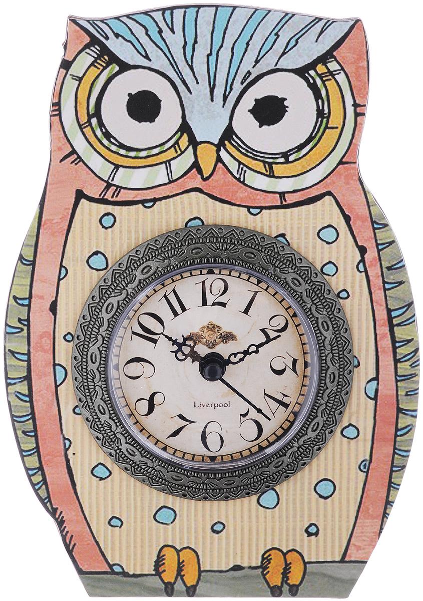 Часы настольные Феникс-Презент Пятнистая совушка, 15 х 20 см40737Настольные часы Феникс-Презент Пятнистая совушка своим эксклюзивным дизайном подчеркнут оригинальность интерьера вашего дома. Часы выполнены из МДФ в виде совы. МДФ (мелкодисперсные фракции) представляет собой плиту из запрессованной вакуумным способом деревянной пыли и является наиболее экологически чистым материалом среди себе подобных. Часы имеют три стрелки - секундную, часовую и минутную. Настольные часы Феникс-Презент Пятнистая совушка подходят для кухни, гостиной, прихожей или дачи, а также могут стать отличным подарком для друзей и близких. ВНИМАНИЕ!!! Часы работают от сменной батареи типа АА 1,5V (в комплект не входит).