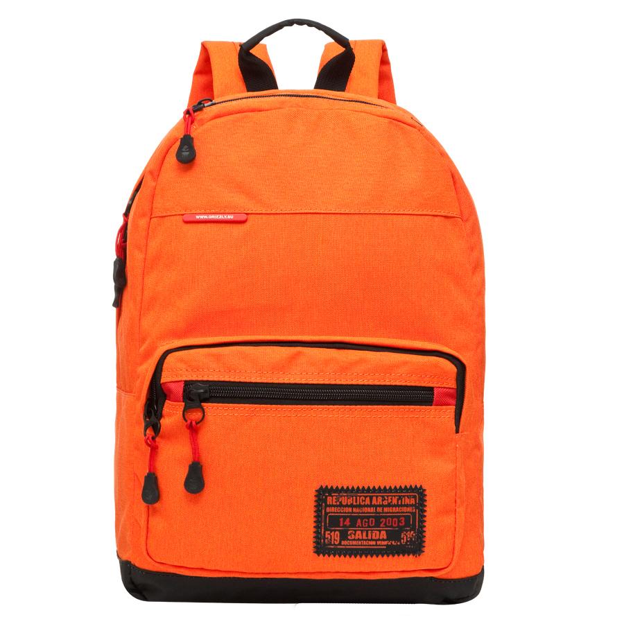 Рюкзак городской Grizzly, цвет: оранжевый, 25 л. RU-614-2/2RU-614-2-2Рюкзак молодежный, одно отделение, карман на молнии на передней стенке, объемный карман на молнии на передней стенке, укрепленная спинка, карман быстрого доступа в верхней части рюкзака, дополнительная ручка-петля, укрепленные лямки