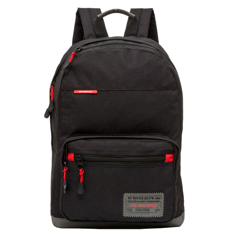 Рюкзак городской Grizzly, цвет: черный, 25 л. RU-614-2/3BP-001 BKРюкзак молодежный, одно отделение, карман на молнии на передней стенке, объемный карман на молнии на передней стенке, укрепленная спинка, карман быстрого доступа в верхней части рюкзака, дополнительная ручка-петля, укрепленные лямки