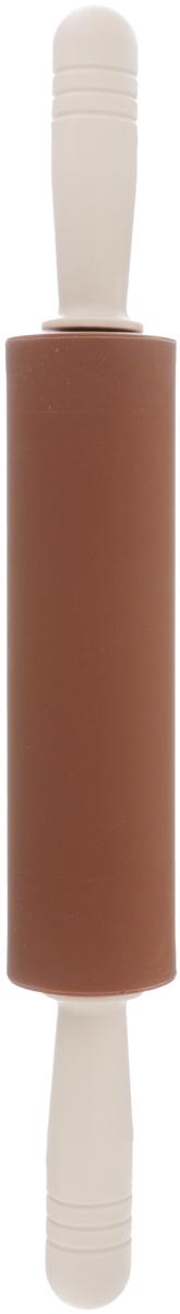 Скалка Calve, с вращающимися ручками, длина 40 смCL-4Скалка Calve изготовлена из высококачественного пластика и силикона. Вращающиеся ручки позволяют прикладывать меньше усилий при раскатывании теста и делают этот процесс намного приятнее и легче. Такая скалка станет незаменимой помощницей в приготовлении выпечки. Можно мыть в посудомоечной машине. Длина скалки: 40 см. Диаметр скалки: 5 см. Длина ручек: 10 см.