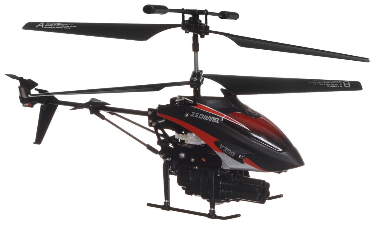 ABtoys Вертолет на инфракрасном управлении Ракетоносец цвет черный красный