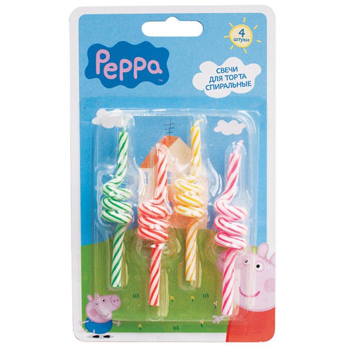 Peppa Pig Набор спиральных свечей 4 шт